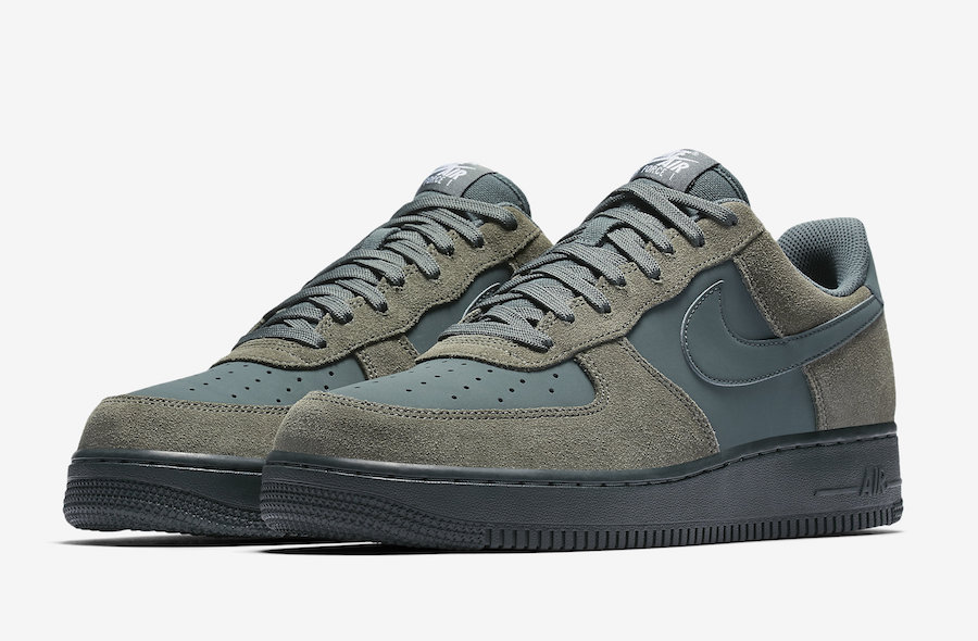nike air force 1 green leather