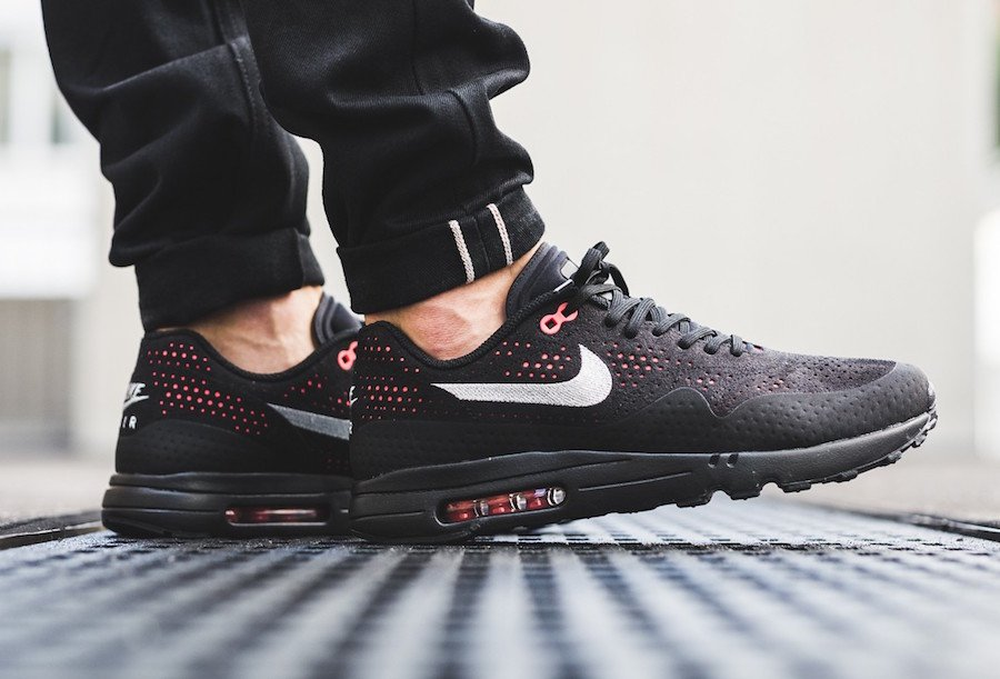 low priced 48dde b9108 Nike Air Max 1 Ultra 2.0 Moire Black Solar Red