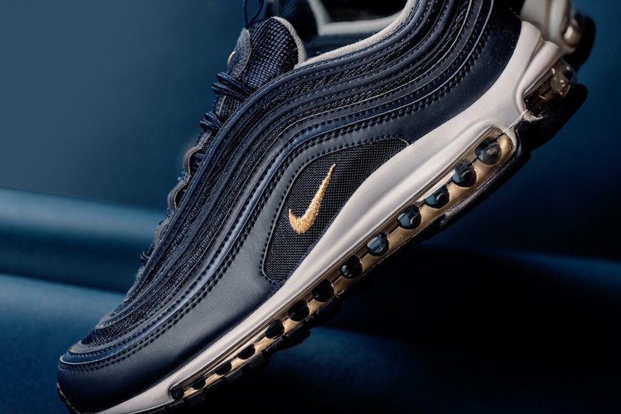 on sale 1bee9 7066b Nike Air Max 97 Midnight Navy Metallic Gold Release Date ...