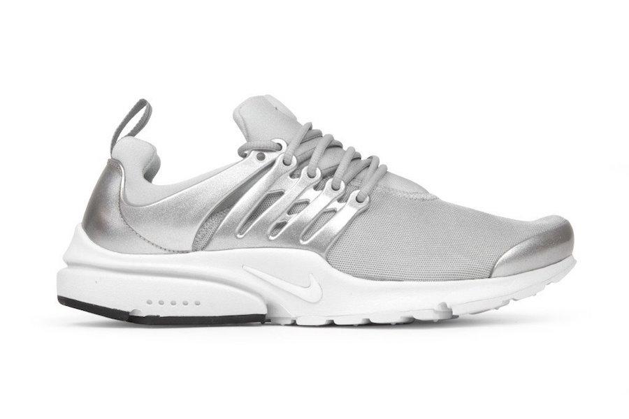 Nike Air Presto Metallic Silver 848141 001 Sneakerfiles