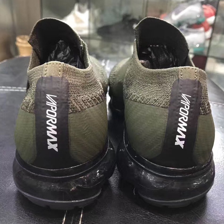 Nike Air VaporMax Laceless Olive Black