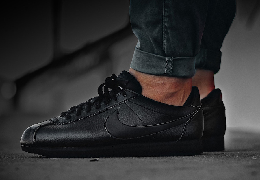Nike Leather Cortez - Black