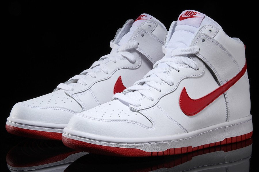 Nike Dunk High White Gym Red 904233-102