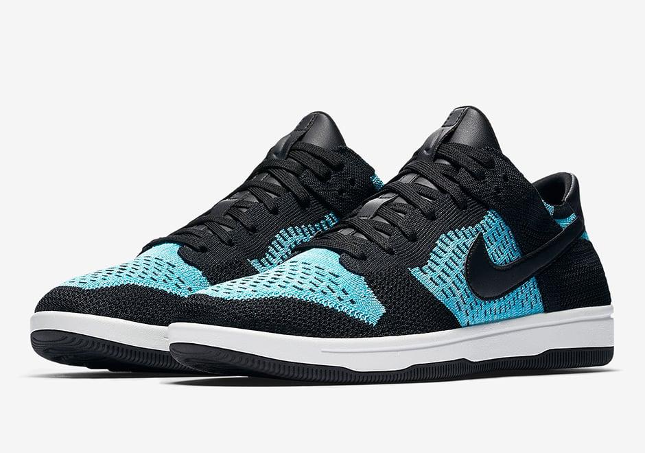 1ca6a92b6753 Nike Dunk Low Flyknit Chlorine Blue