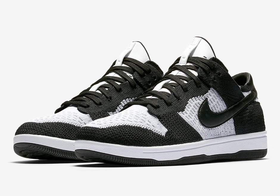 Nike Dunk Low Flyknit White Black