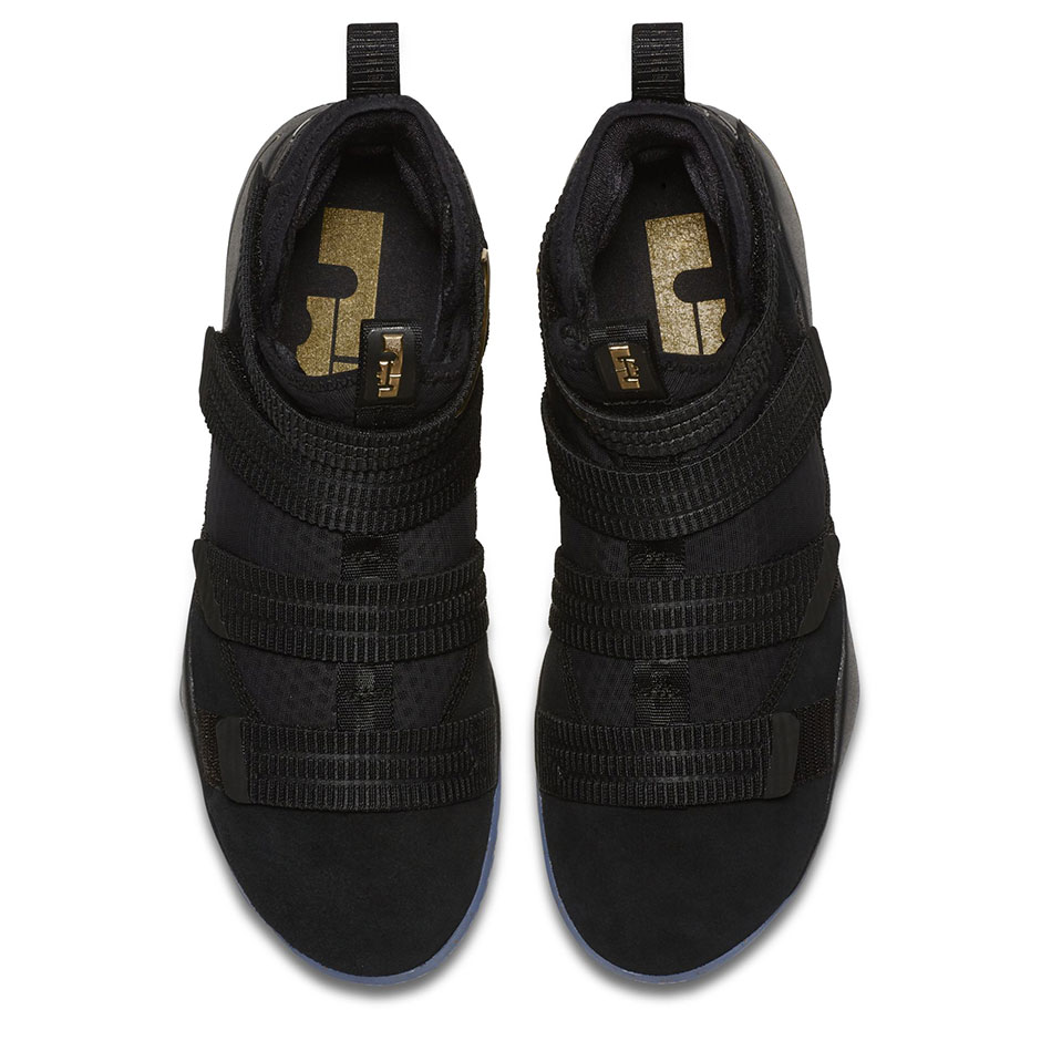 Nike LeBron Soldier 11 Finals Black Gold  3199fb41b