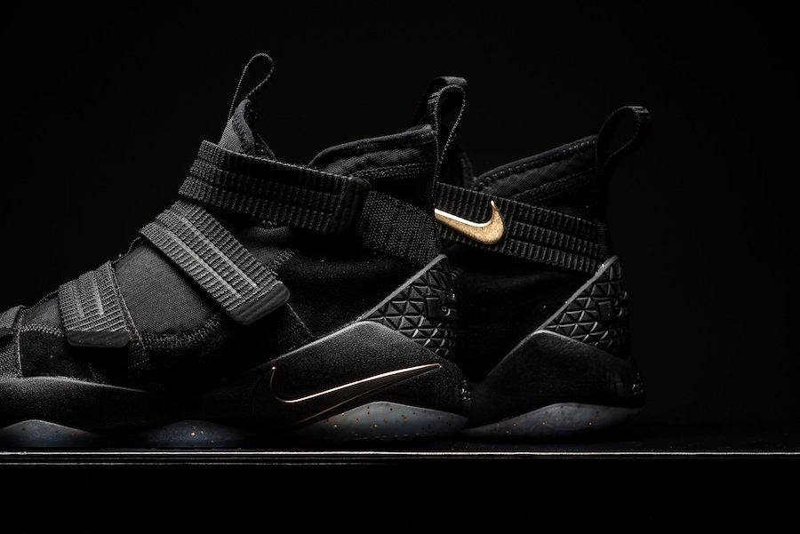 671cd90ad46e Nike LeBron Soldier 11 Finals Black Gold 897647-002