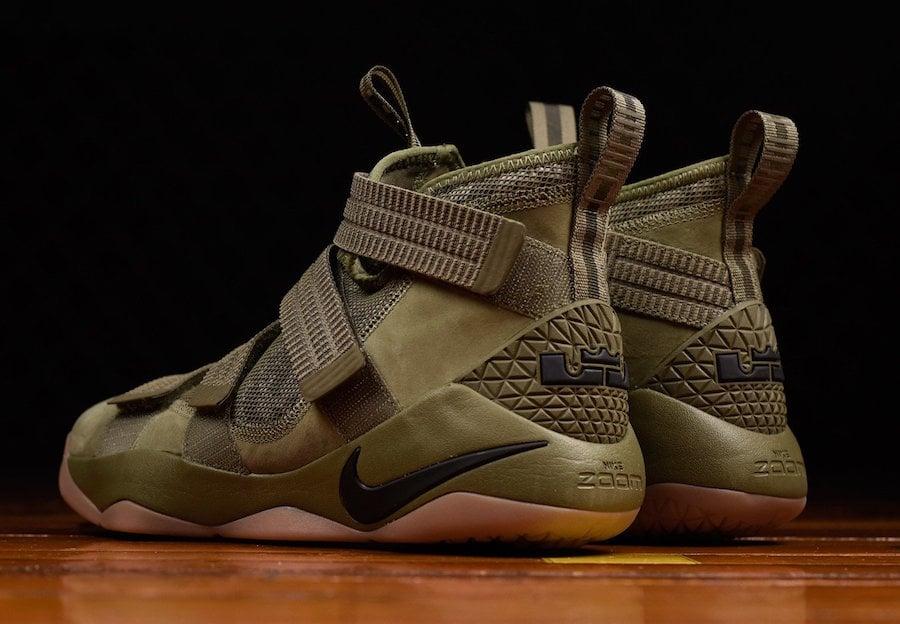 Nike LeBron Soldier 11 Green Camo
