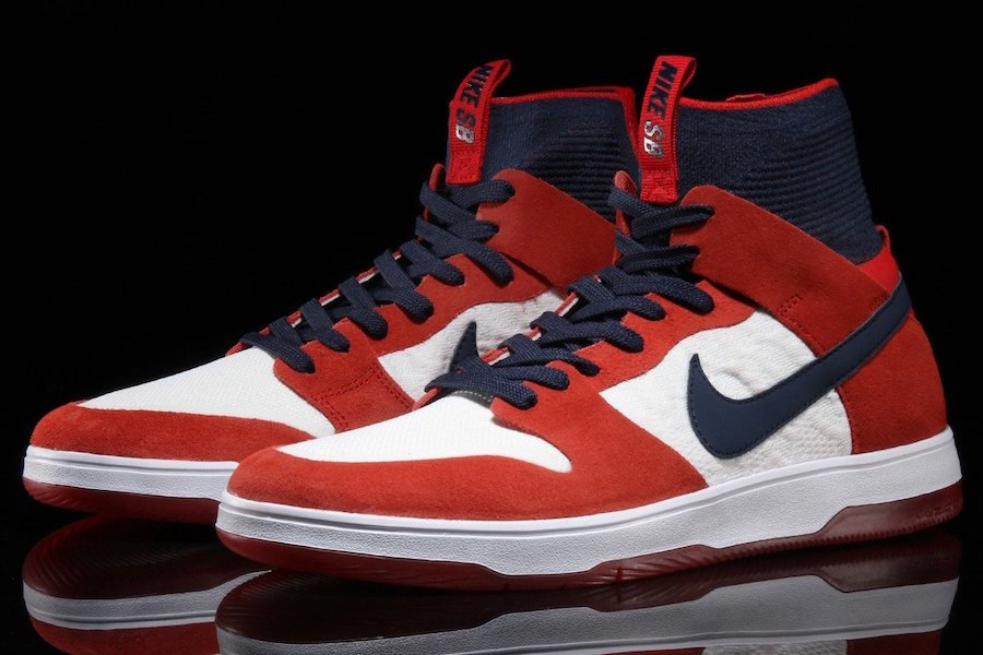 a49b2eedb5d57 Nike SB Dunk High Elite University Red Navy 917567-641
