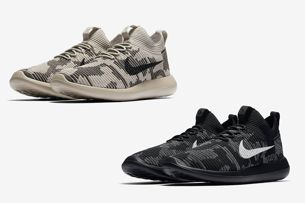 outlet store 7fc7e a93f7 NikeLab Roshe Two Flyknit V2 Camouflage | SneakerFiles