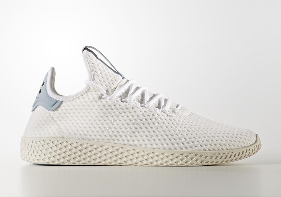 Pharrell adidas Tennis Hu White Dark Grey BY8718