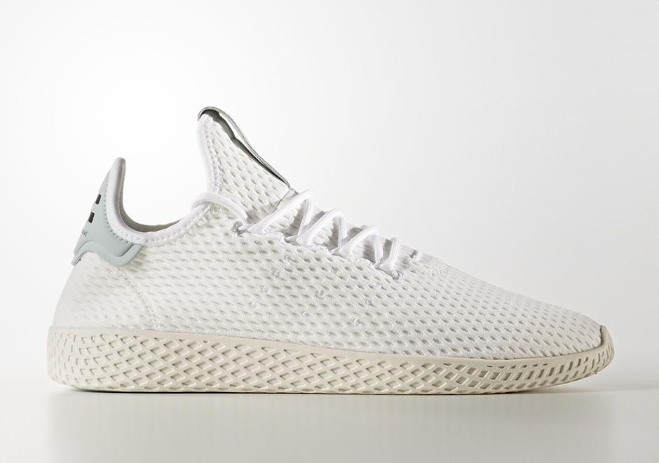 Pharrell adidas Tennis Hu White Light Grey BY8716