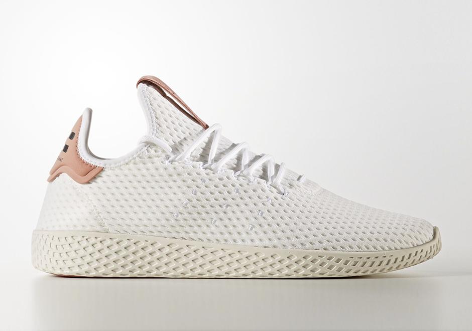 Pharrell adidas Tennis Hu White Pink CP9763