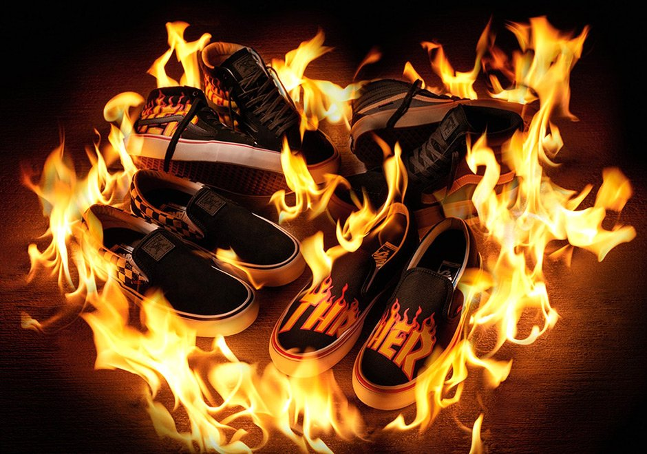 Thrasher Vans Flames Logo Collection