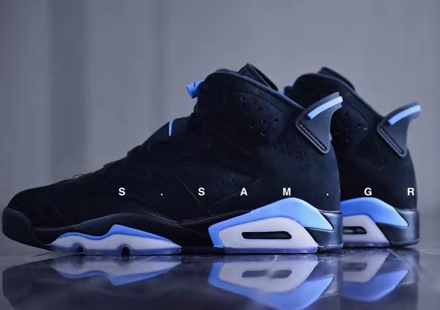 d1fe6b17498c Air Jordan 6 UNC Black University Blue 384664-006 Release Date ...