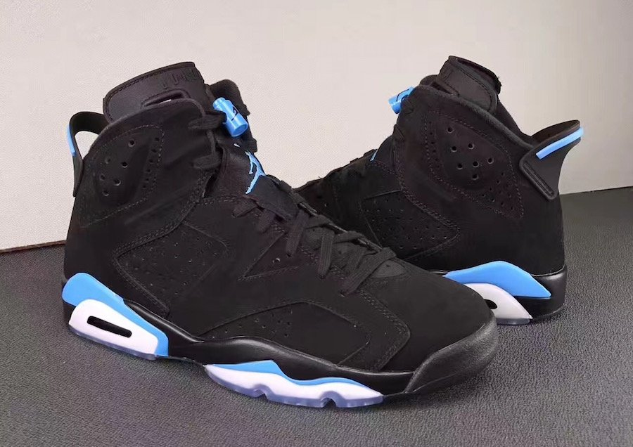 buy popular 80fef 4f0b7 Air Jordan 6 UNC Black University Blue 384664-006 Release ...
