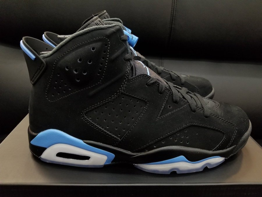 buy popular 8da94 5f646 Air Jordan 6 UNC Black University Blue 384664-006 Release ...