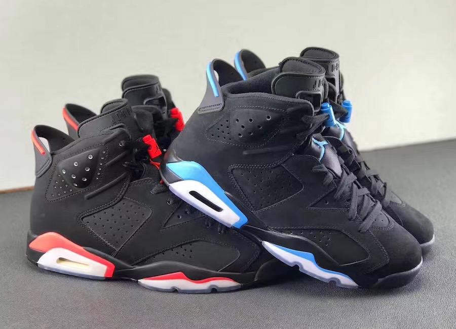 air jordan 6 black university blue