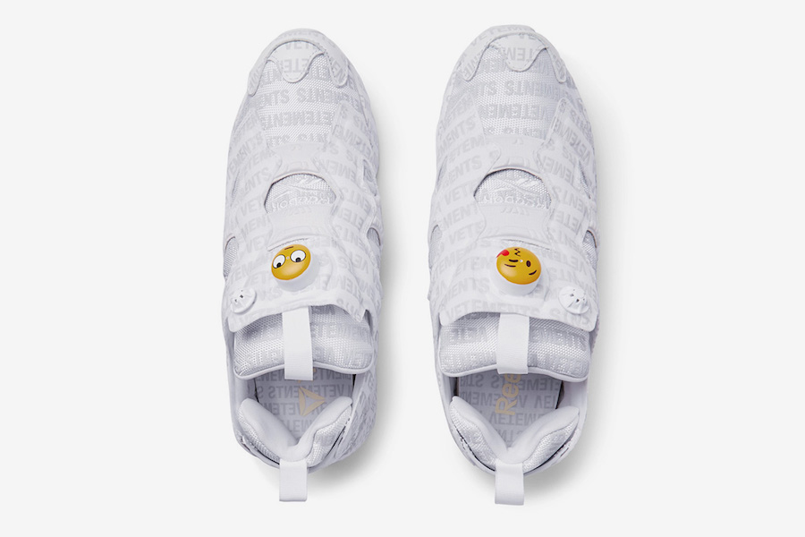 Vetements Reebok Insta Pump Fury Emoji Logo