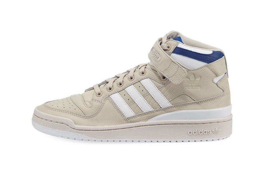adidas Forum Leather Mid Top Beige  9ff865520