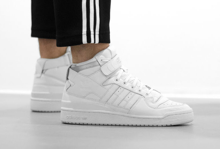 adidas Forum Mid Refined White Silver