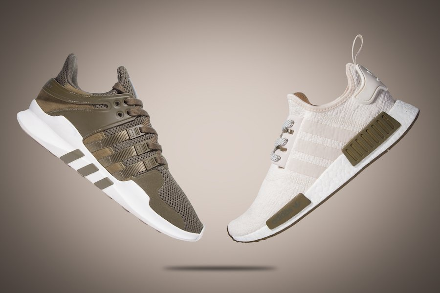adidas NMD R1 Chalk EQT ADV Support Olive