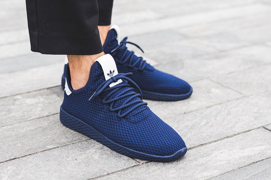adidas Tennis Hu Navy BY8719 On Feet