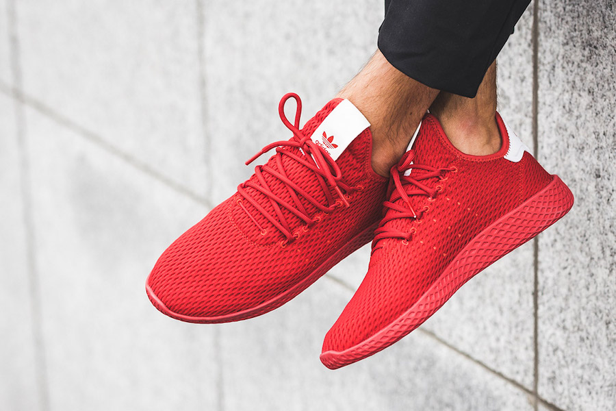 adidas Tennis Hu Red BY8720 On Feet