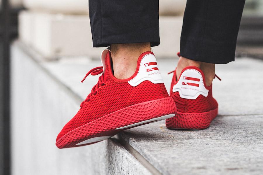 adidas Tennis Hu Red BY8720 On Feet