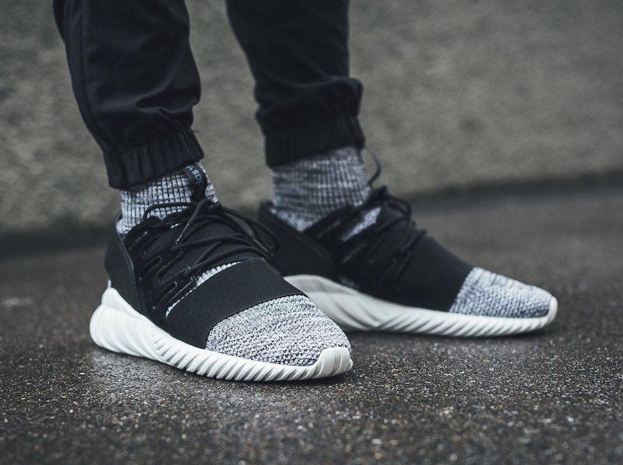 e2f24e3f7749 adidas Tubular Doom Primeknit Core Black White BY3550