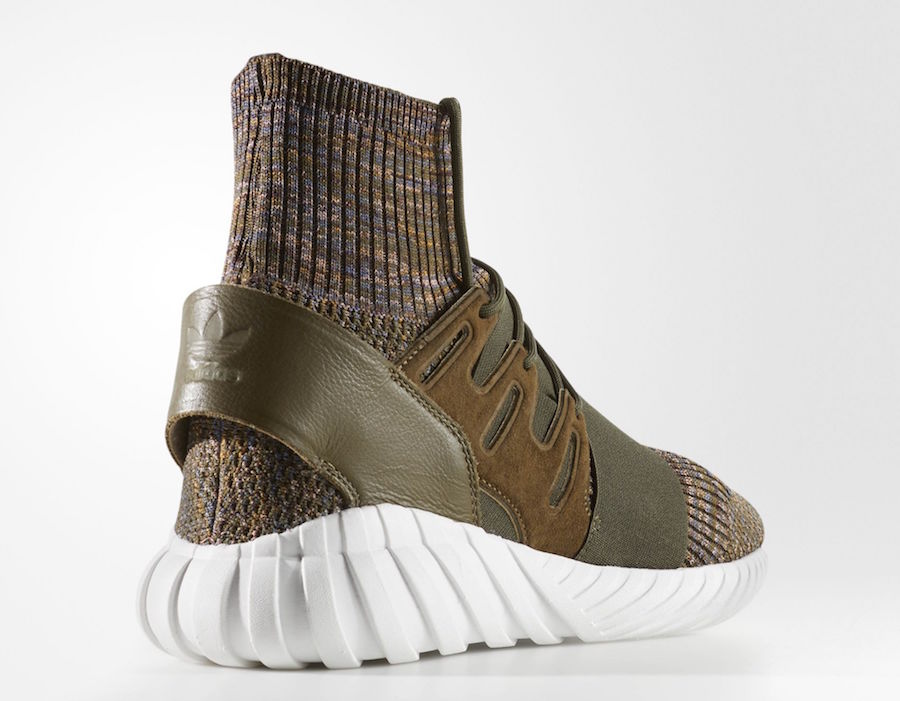 best website 9e9f3 140b1 adidas Tubular Doom Primeknit Trace Olive BY3551 | SneakerFiles