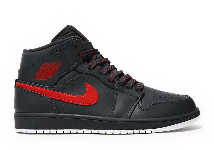 Air Jordan 1 Mid Anthracite Gym Red