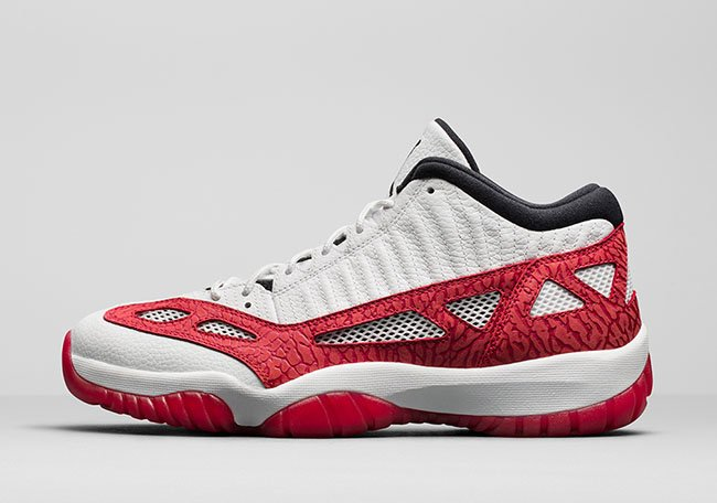 Air Jordan 11 Low IE Fire Red September 2017