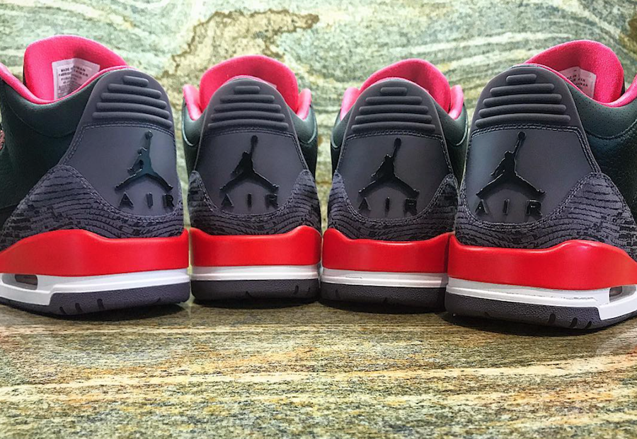 Air Jordan 3 Snakeskin Crimson Sample