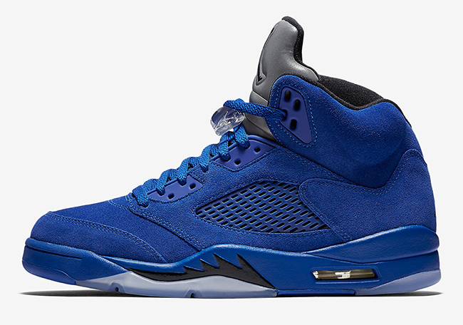 Air Jordan 5 Blue Suede September 2017