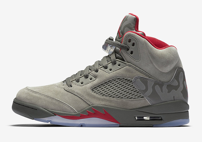 Air Jordan 5 Camo Dark Stucco September 2017