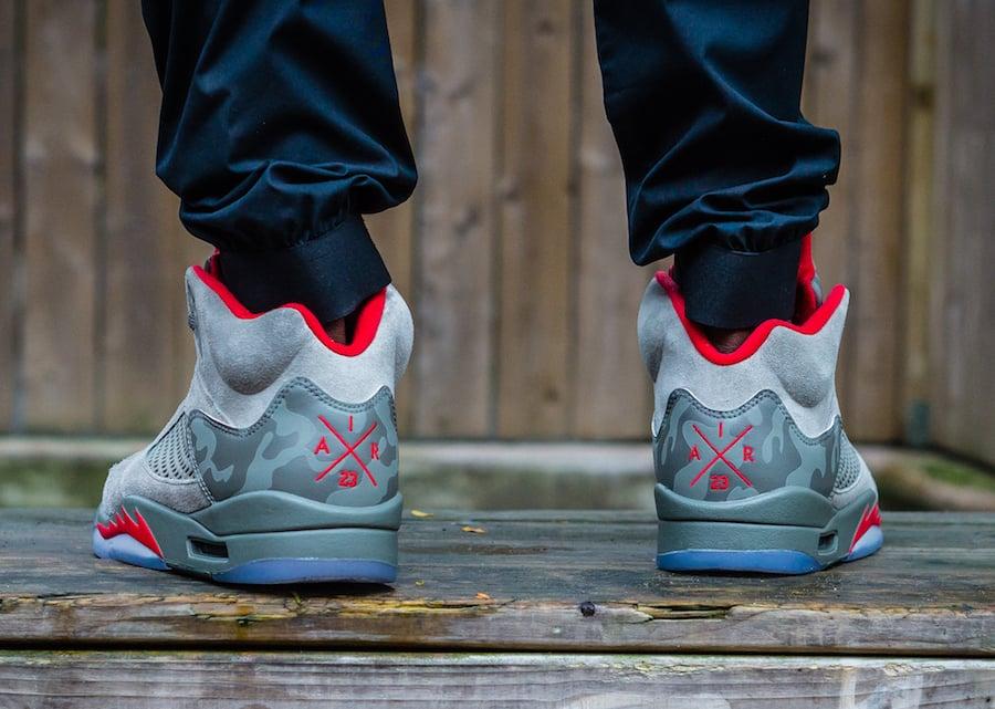Air Jordan 5 Camo On Feet
