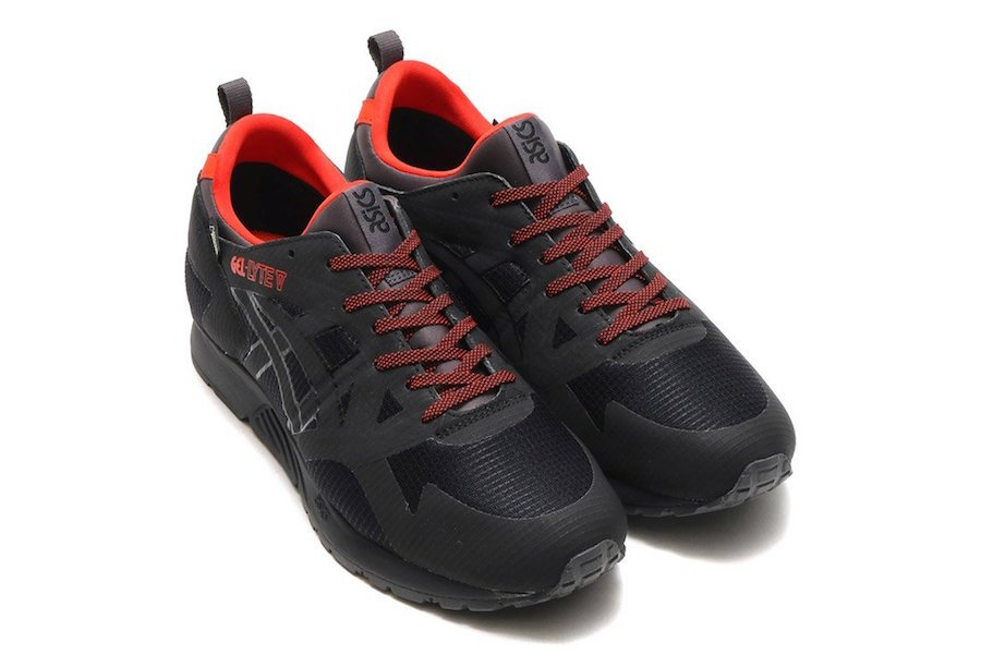 Asics Gel Lyte V Gore-Tex in Black and Red via Brian Betschart