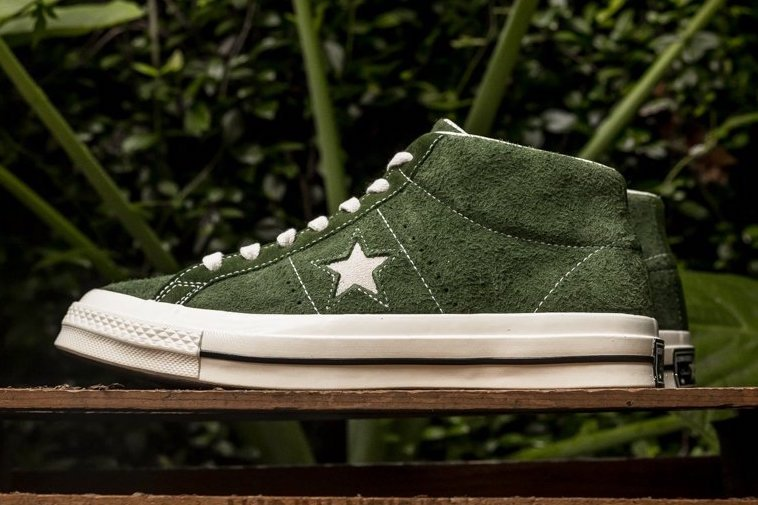 Converse One Star Mid Green