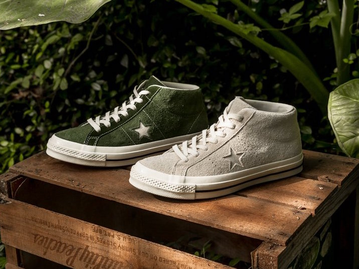 Converse One Star Mid Shadow Green Egret