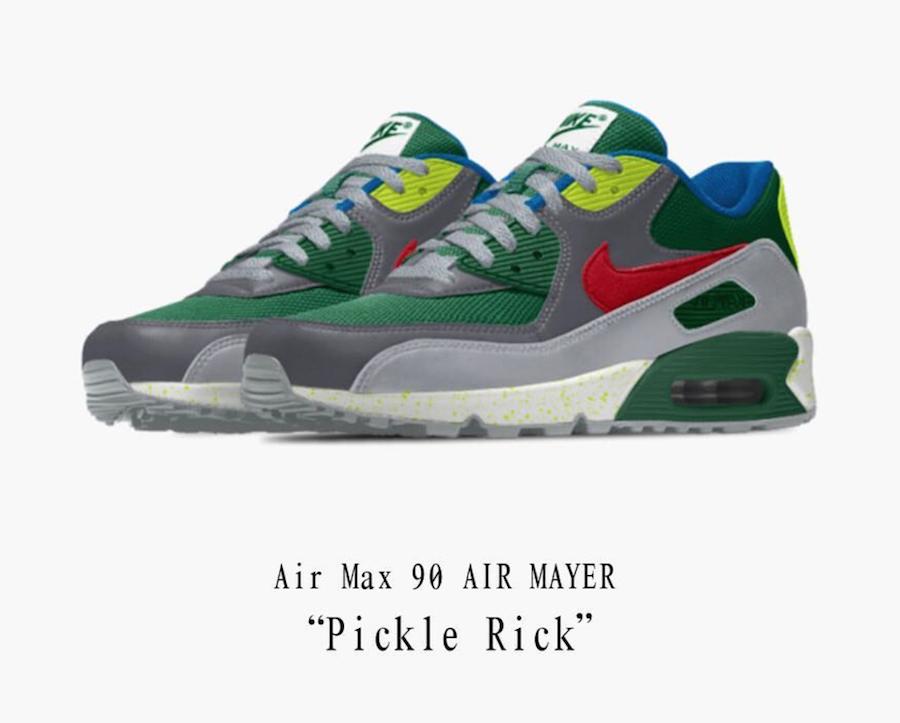 John Mayer Nike Air Max 90 Pickle Rick