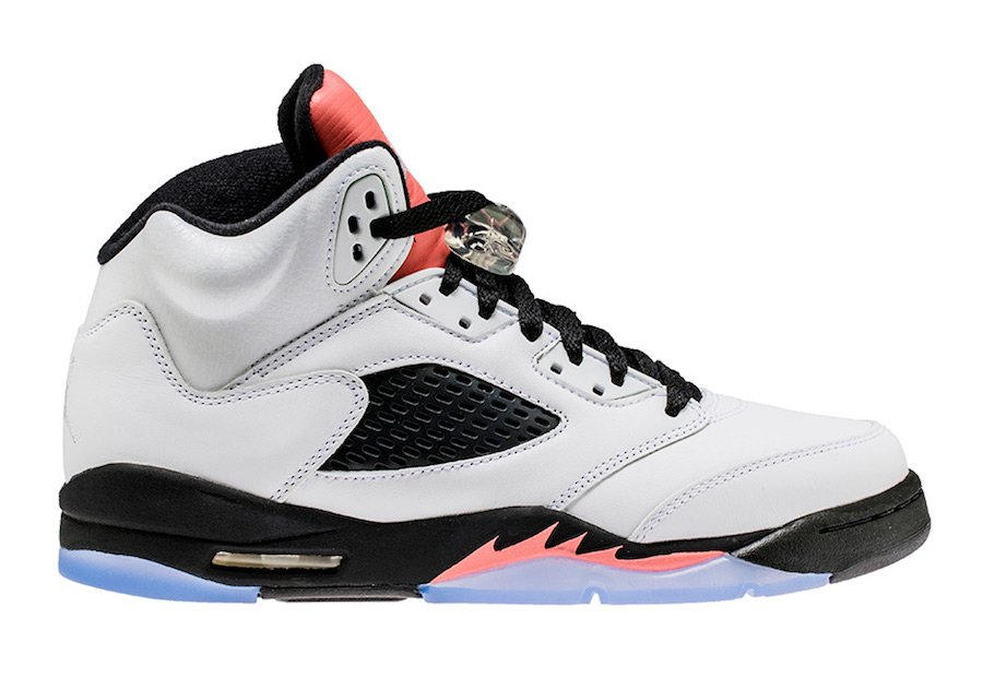 Jordan 5 GS White Sunblush Black 440892-115