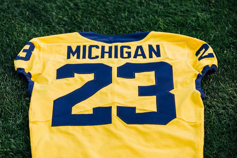 Jordan Brand Michigan Maize Uniforms