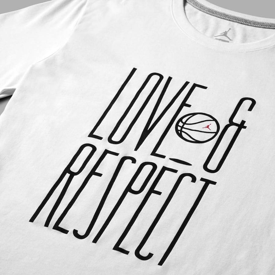 Love Respect Air Jordan White T-Shirt