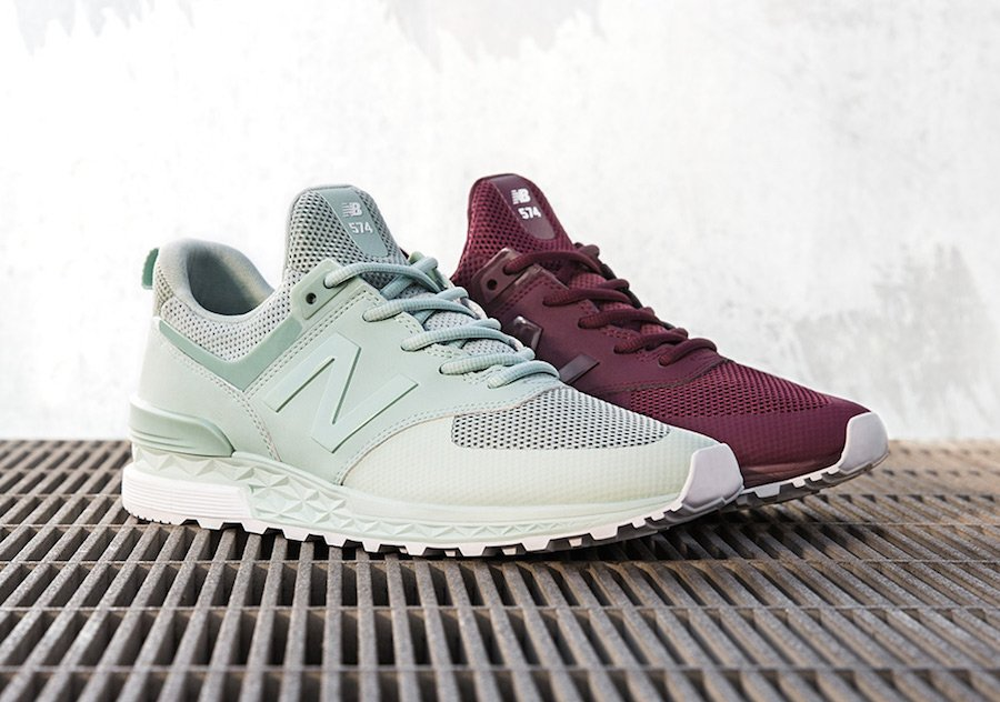 New Balance 574 Sport Mint Burgundy