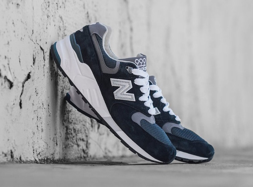 factory authentic 223ff 8c60e New Balance 999 Navy Pewter | SneakerFiles