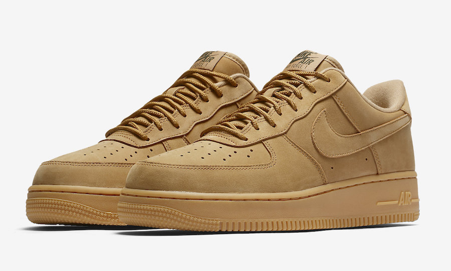 brown nike air force 1 flax low top