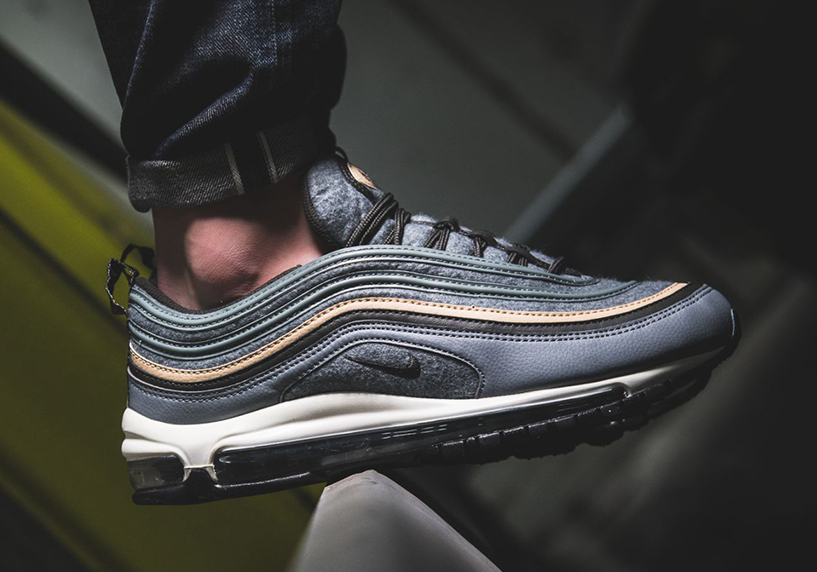 on sale 46f7c cb134 Nike Air Max 97 Premium Deep Pewter Wool Release Date ...