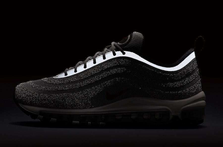 New Style Nikelab Air Max 97 Swarovski Grey Red Black