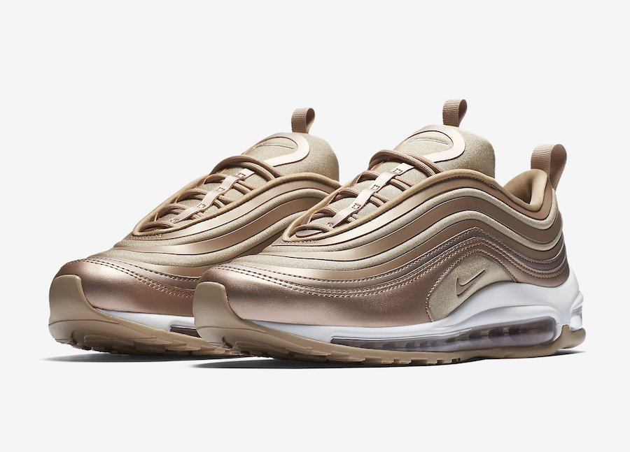 Nouveau Nike Air Max 97 En Bronze Rouge